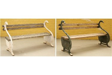 Cool 82 Pair Antique Garden Bench Swan Cast Iron Creativecarmelina Interior Chair Design Creativecarmelinacom