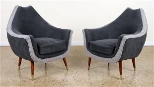 PAIR CLUB CHAIRS MANNER OF ADRIAN PEARSALL C.1950