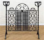 CONTINENTAL WROUGHT IRON FIRE SCREEN
