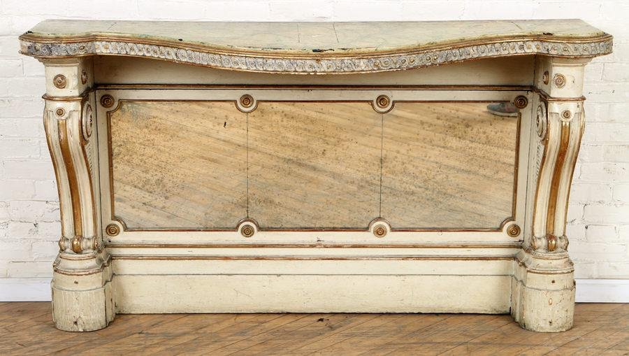 PAINTED REGENCY CONSOLE TABLE CIRCA 1840