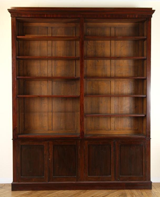 IRISH REGENCY ROSEWOOD OPEN BOOKCASE C.1830