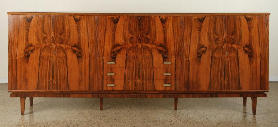 ROSEWOOD MID CENTUERY MODERN CREDENZA FALL FRONT