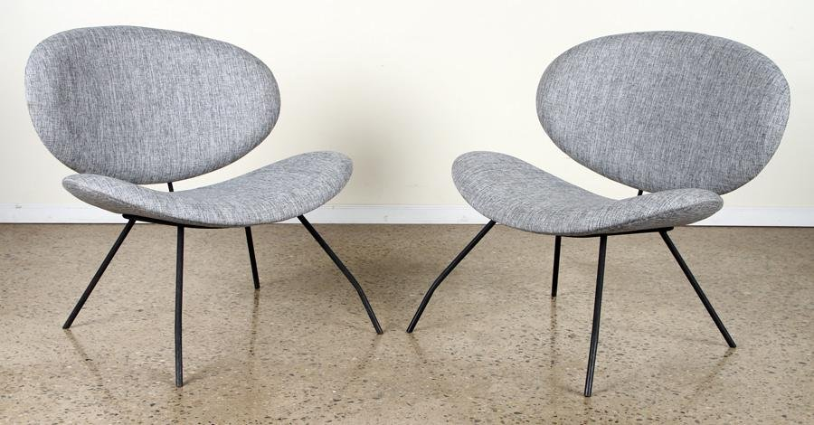 PAIR FRENCH LOUNGE CHAIRS BY PIERRE PAULIN C.1960