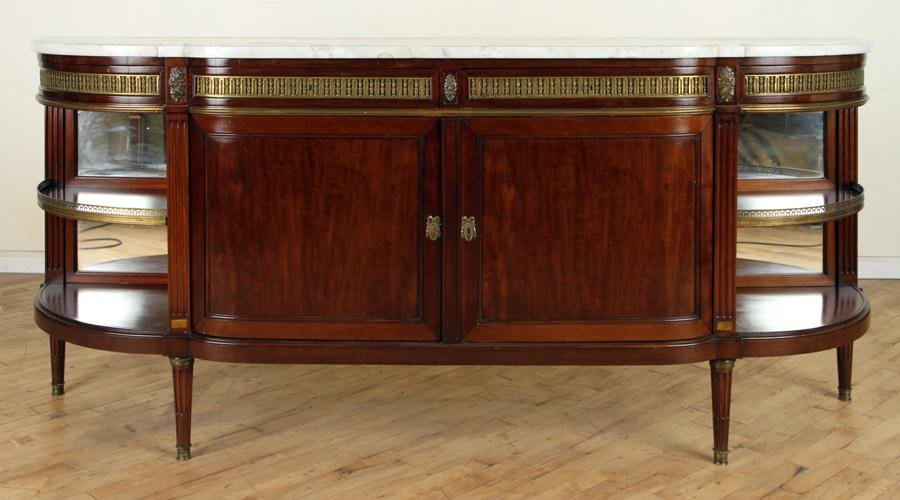 FRENCH MAHOGANY SIDEBOARD BY MAISON FOREST C.1900