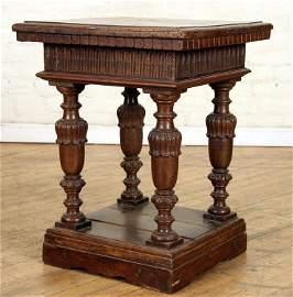 18TH CENTURY ITALIAN WALNUT ONE DRAWER TABLE