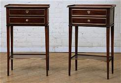 PAIR FRENCH DIRECTOIRE STYLE END TABLES C. 1930