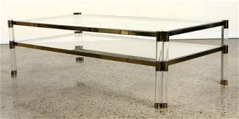 LUCITE GLASS COFFEE TABLE MANNER KARL SPRINGER