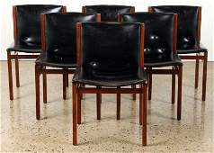 SET 6 DANISH STYLE ROSEWOOD DINING CHAIRS C.1950