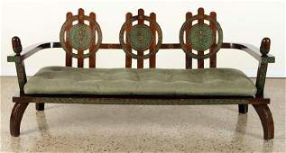 CARVED WOOD BENCH BY ETTORE ZACCARI C.1910