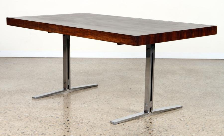MILO BAUGHMAN STYLE ROSEWOOD DINING TABLE C.1970