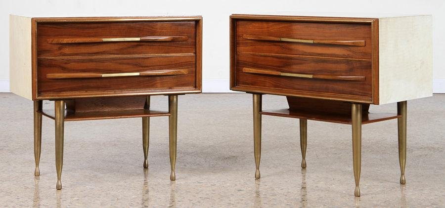 PAIR MID CENTURY MODERN ITALIAN END TABLES C 1960