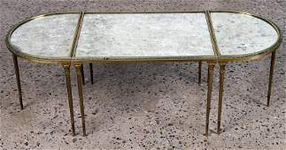 BAGUES BRONZE 3 PART COFFEE TABLE MIRRORED TOP