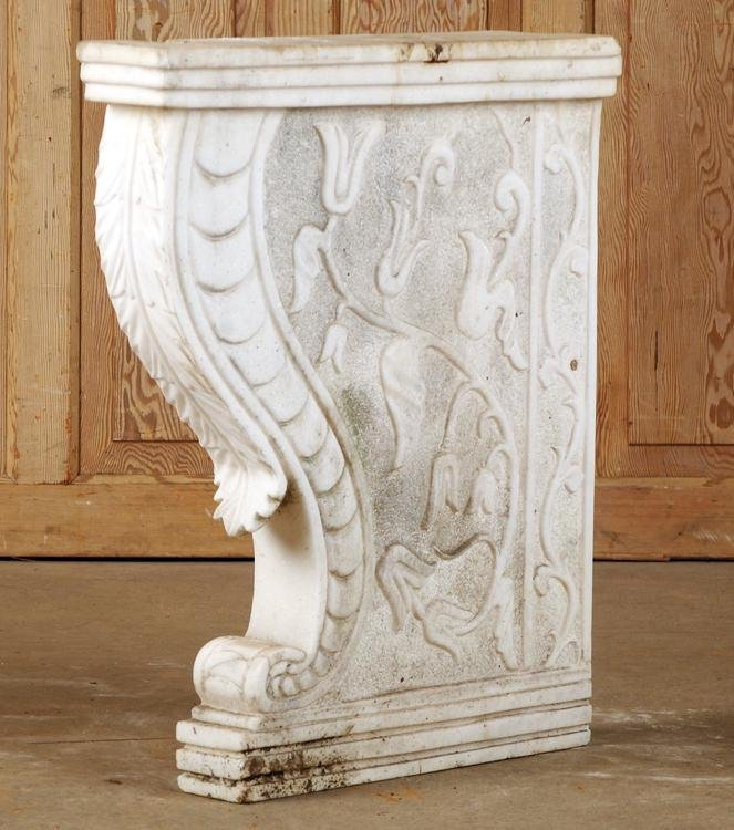 CARVED MARBLE ARCHITECTURAL ELEMENT