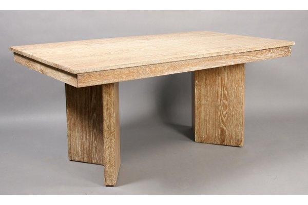6: MOD JM FRANK STYLE LIMED OAK DINING TABLE