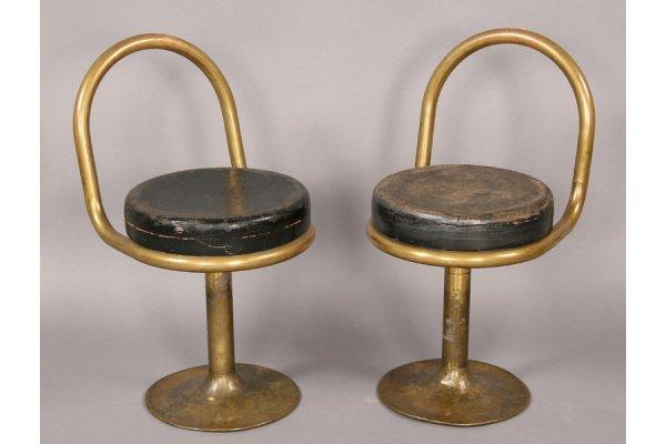 9: PR MODERN BRONZE STOOLS PLATFORM SEATS 1930