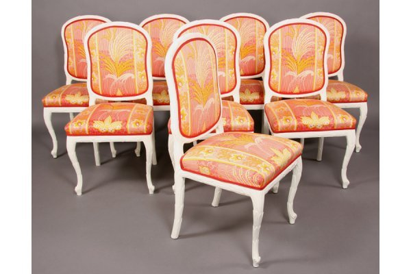 18: SET SERGE ROCHE STYLE DINING CHAIRS