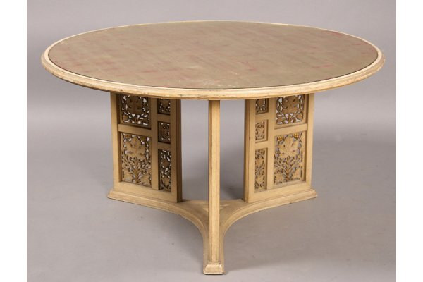 23: CARVED PAINTED GILT MIRROR VINTAGE COFFEE TABLE