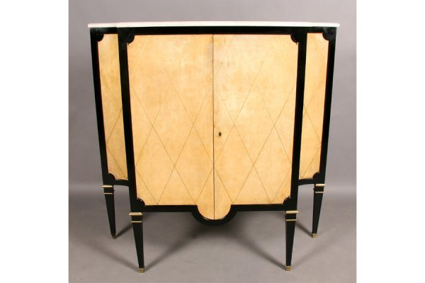 460: FRENCH ARBUS STYLE VINTAGE BAR CABINET