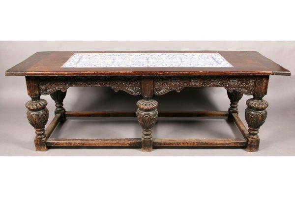 656: PORTUGUESE RENAISSANCE REVIVAL CARVED WOOD TABLE