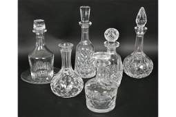 934: 7 PC LOT: BACCARAT WATERFORD CRYSTAL CARAFE