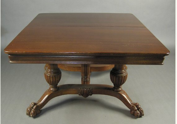 50071254: AMERICAN OAK LATE VICTORIAN DINING ROOM TABLE