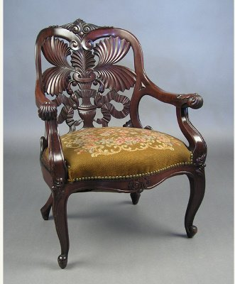 50071256: VICTORIAN LAMINATED  CHAIR  LIKE BELTER