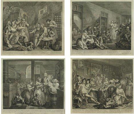 50075529: WILLIAM HOGARTH (BRITISH 1697-1764) MADNESS,