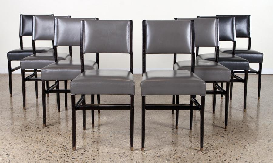 SET 8 DINING CHAIRS IN MANNER OF GIO PONTI C.1950