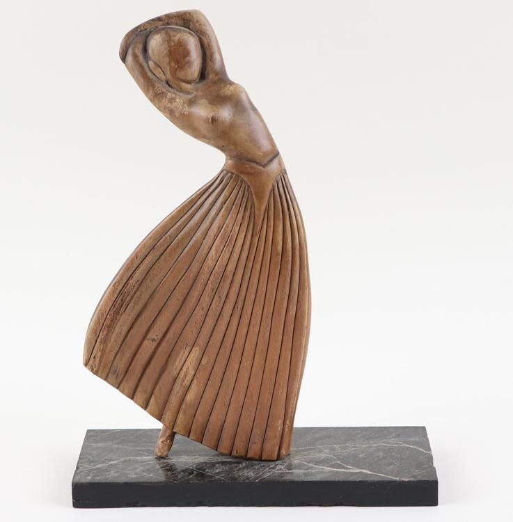Art Deco Carved Wood Dancing Woman Statue Aug 25 2020 Kamelot Auctions In Pa