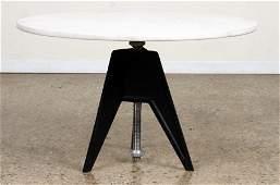 JOE D'URSO FOR BIEFFEPLAST STEEL DINING TABLE