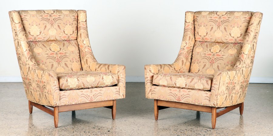 PR UPHOLSTERED CLUB CHAIRS MANNER ADRIAN PEARSALL