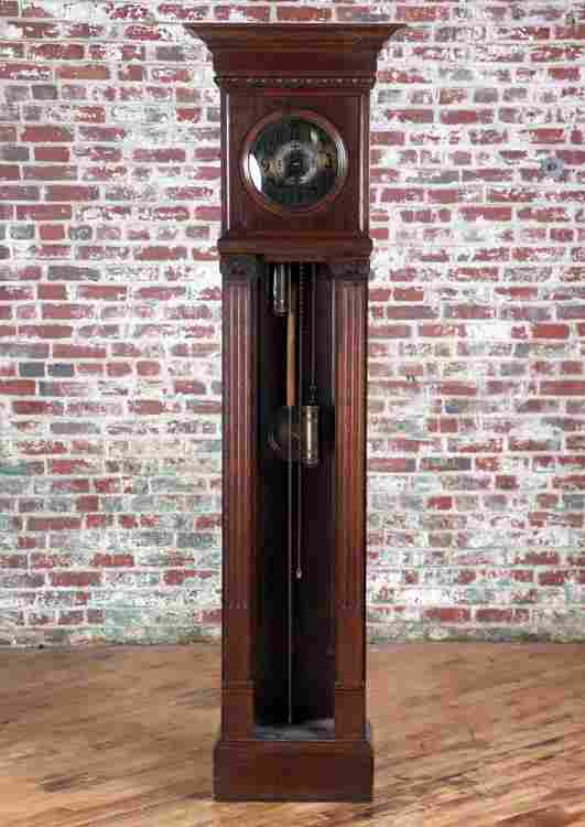 GERMAN ART NOUVEAU STYLE GRANDFATHER CLOCK C.1920