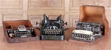 3 TYPEWRITERS HAMMOND BLICKENSDORFER OLIVER