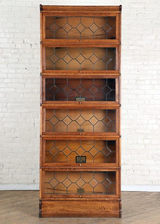 6 SECTION BARRISTER BOOKCASE GLOBE WERNICKE