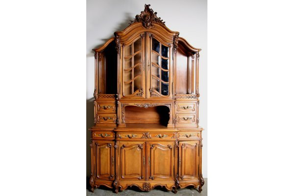 16: FRENCH CARVED WALNUT BUFFET ANTIQUE