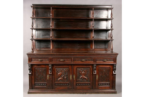 83: PABST ANTIQUE VICTORIAN CARVED SIDEBOARD