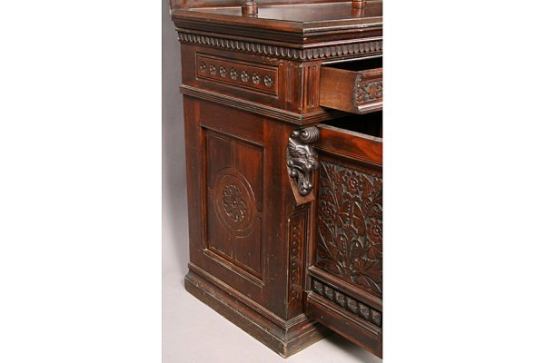 83: PABST ANTIQUE VICTORIAN CARVED SIDEBOARD - 5