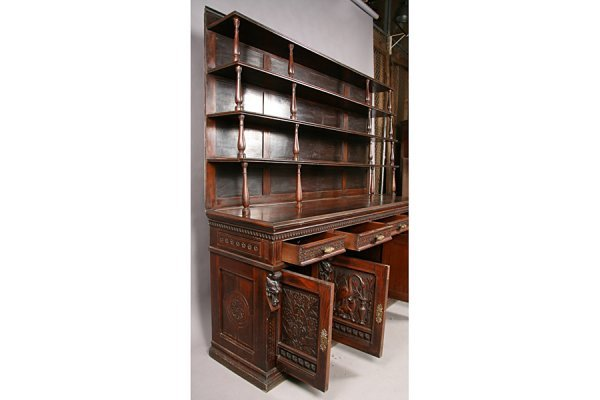83: PABST ANTIQUE VICTORIAN CARVED SIDEBOARD - 6