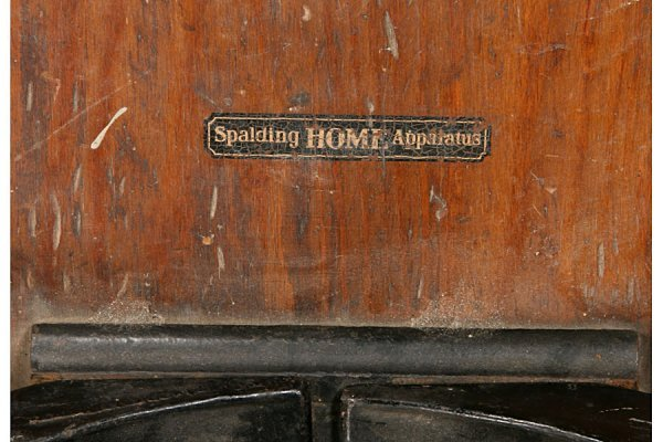 402: VINTAGE SPALDING HOME APPARATUS ROWING MACHINE - 4