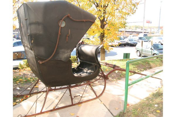 500: ANTIQUE DOCTOR CUTTER SLEIGH CARRIAGE HORSE DRAWN - 2