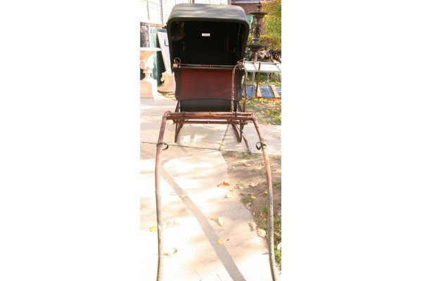 500: ANTIQUE DOCTOR CUTTER SLEIGH CARRIAGE HORSE DRAWN - 3