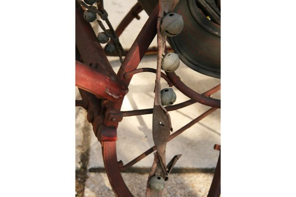 500: ANTIQUE DOCTOR CUTTER SLEIGH CARRIAGE HORSE DRAWN - 4