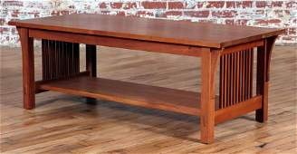 STICKLEY ARTS  CRAFTS STYLE CHERRY COFFEE TABLE