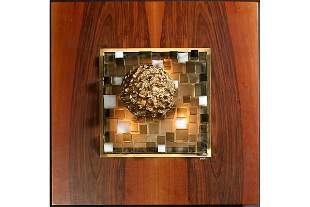 758: SIGNED ANGELO BROTTO WALL MOUNTED LIGHT SCULPTURE