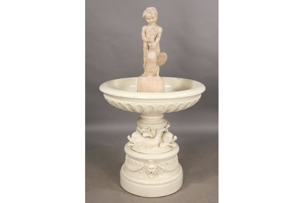 5: 5 PART STAMPED GALLOWAY TERRACOTTA FOUNTAIN