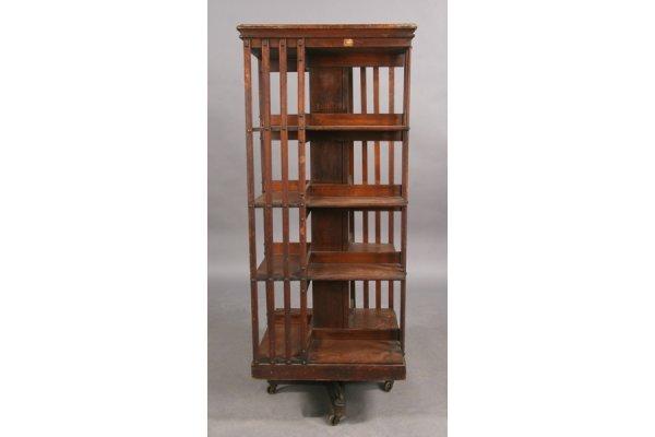 588: ANTIQUE JOHN DANNER CO. REVOLVING BOOKCASE