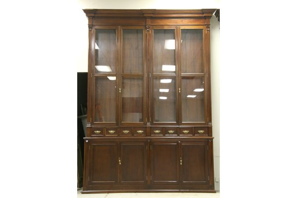 595: PR LG ANTIQUE BOOKCASES PHARMACY CABINETS - 2