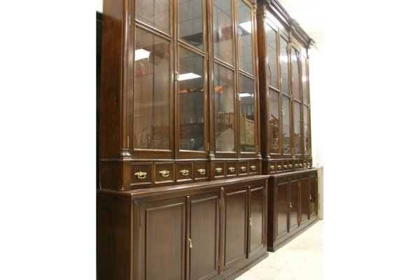 595: PR LG ANTIQUE BOOKCASES PHARMACY CABINETS - 3