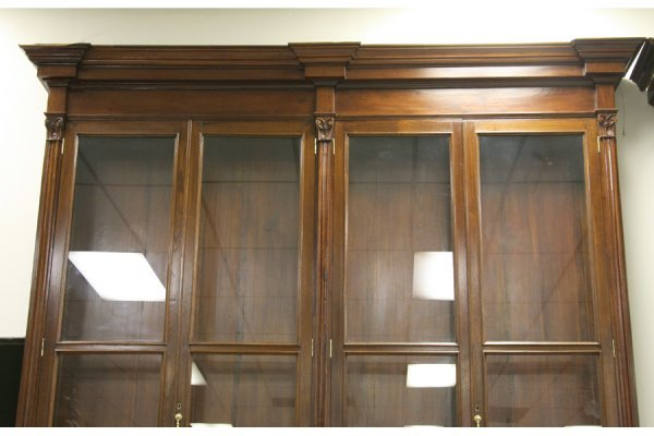595: PR LG ANTIQUE BOOKCASES PHARMACY CABINETS - 4