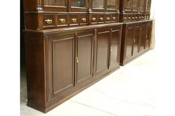 595: PR LG ANTIQUE BOOKCASES PHARMACY CABINETS - 7